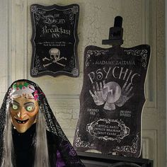 Invite guests to check in for a night they'll never forget with our wickedly fun and highly detailed Dead and Breakfast Halloween Wall Art. An easy way    to make sure your walls are as equally well appointed as the rest of your shockingly sophisticated d. Great scallop shape is elaborately decorated    with a host of design elements, including a large skull and crossbones and The Dead and Breakfast Inn  when you want the best in eternal rest messaging. Skillful and generous distressing a...