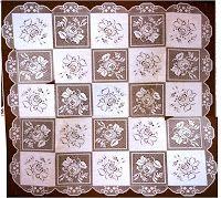 crochet em revista: Toalha com rosas