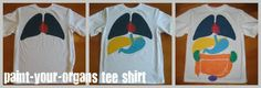 Relentlessly Fun, Deceptively Educational: Paint-Your-Organs Shirt and Printable Body Book