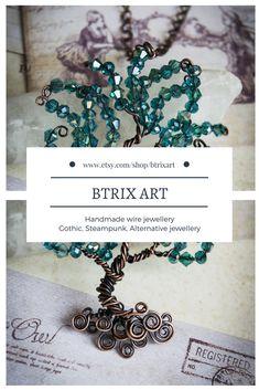 BTRIX ART Handmade wire jewellery Gothic, Steampunk, Alternative jewellery