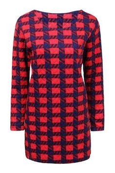 Check Dress In Red - US$18.95 -YOINS