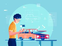 Car Maintenance designed by 小五 for innn. Connect with them on Dribbble; Saint Charles, App Design, Flat Design, Show And Tell, Digital Illustration, Animation, Projects, Character, Phoenix