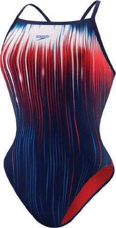 Speedo Women's Power Sprint Flyback Endurance Swimsuit, US Navy, 4/30 $66.95 #Speedo #Swimwear