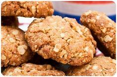 Oaty Biscuits using plain flour, Demerara sugar, porridge oats, butter, bicarbonate of soda and golden syrup. Biscuit Cookies, Biscuit Recipe, Oat Cookies, Most Popular Recipes, Favorite Recipes, Baking Recipes, Cookie Recipes, Netmums Recipes, Oaty Biscuits