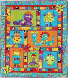 Monster Patch - by Kids Quilts - Quilt PatternSECONDARY_SECTION$22.00: Fabric Patch: Patchwork Quilting fabrics, Moda fabric, Quilt Supplies,�Patterns