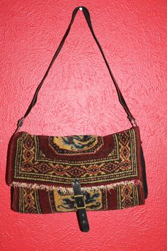 Vtg. Carpet Bag shoulder bag adjustable strap by Taite on Etsy, $20.00