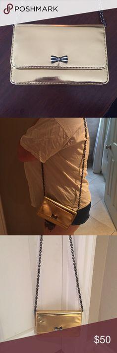 Gold Henri bendel purse with chain Super cute gold small sized purse by Henri bendel New York. henri bendel Bags Crossbody Bags