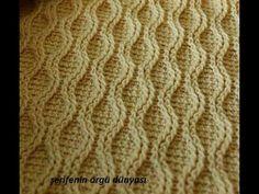 Kolay Yalancı Saç Örgüsü Modeli - YouTube Crochet Cable, Crochet Art, Crochet Patterns, Crochet Videos, Knitting Stitches, Crochet Clothes, Celtic, Chevron, Blanket