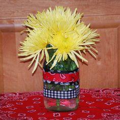 cowboy western theme flower centerpiece