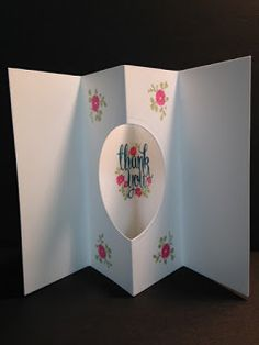 Flower Shop, Tunnel Card Technique, Thank You Card, Stampin' Up!, Rubber Stamping, Handmade Cards