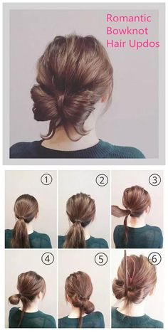 Romantic Bowknot Hair Updos