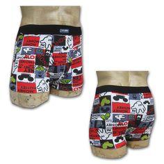 Sous-vêtement homme, boxer avec motifs imprimés imitation Mickey Money à prix discount disponible sur www.city-lingerie.fr