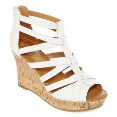 b4d5add1c946 a.n.a Maxwell Womens Wedge Sandals Leather Sandals