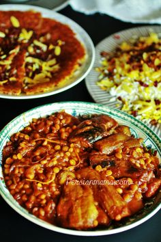 Vegetarian Khoresh Bademjan is a Persian eggplant and yellow split pea stew cooked in a pomegranate, fresh orange/lemon juice and orange zest.