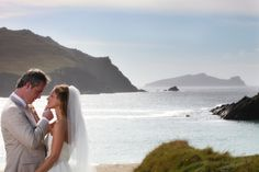 A stunning picture of a couple in front of the sea Wedding Advice, Post Wedding, Wedding Couples, Wedding Ideas, Celtic Wedding, Irish Wedding, Ashford Castle, West Coast Of Ireland, Ireland Wedding