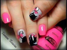 """Find and save images from the """"UÑAS"""" collection by Monica Victoria (MonicaVictoria) on We Heart It, your everyday app to get lost in what you love. Nails To Go, Love Nails, Cat Nails, Best Acrylic Nails, Cute Nail Art, Nail Decorations, Cute Nail Designs, Nail Art Galleries, Perfect Nails"""