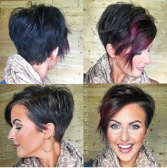 A little pixie 360 for all my short haired lovas! A little pixie 360 for all my short haired lovas! Funky Hairstyles, Pretty Hairstyles, Ladies Hairstyles, Indian Hairstyles, Teenage Hairstyles, Layered Hairstyles, Hairstyles 2016, Hairstyle Ideas, Pixie Lang