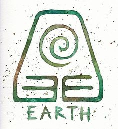 Earth Kingdom Symbol // 9x9 Watercolor Painting Print // Toph // Avatar the Last Airbender // Earth Emblem // Green Brown Earthy Check out my painting in etsy shop: EverlastingFantasy!