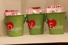 More customized Valentine's Day Tins from the DoLLaR SpOT! Hamper, Tins, Valentines Day, Craft Ideas, Organization, Crafts, Home Decor, Tin Cans, Organisation
