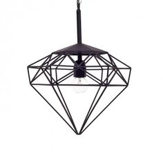 The diamond represents clarity, vision, and awareness. Let this geometric lamp guide the way with its ethereal light. Hand-wrought in India from powder-coated black iron, it& molecular shape hangs gracefully. Diamond Pendant, Pendant Lamp, Molecular Shapes, Geometric Lamp, Light Architecture, Black Diamond, Ceiling Lights, Ceiling Lamp, Lighting
