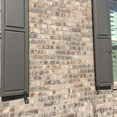 Marshton Queen Brick with gray mortar by Pine Hall Brick. Fairmo… Marshton Queen Brick with gray mortar by Pine Hall Brick. House Shutters, House Siding, House Paint Exterior, Exterior House Colors, Exterior Design, Brown Brick Exterior, Brown Brick Houses, Brown House, Shutter Colors
