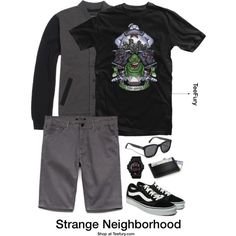 Strange Neighborhood - (Men's) Buy it on TeeFury here: http://www.teefury.com/strange-neighborhood/?utm_source=pinterest&utm_medium=referral&utm_content=strangeneighborhood&utm_campaign=galleryinfocus?&c3ch=Social&c3nid=Pinterest