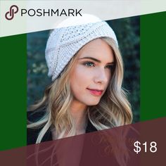 🆕Coming Soon! Knit Crochet Headband A Cold Weather Essential. Diamond Stitch Knit Headband. IVORY. 100% Acrylic. New from Vendor. Comment to be notified when available. February Closet Accessories