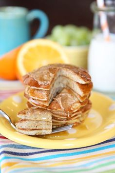 2 Ingredient, Healthy Low Carb Pancakes | Our Best Bites. Really, they're good. #pancakes #easy #breakfast