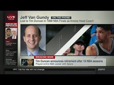 Jeff Van Gundy on Tim Duncan retirement   July 11, 2016