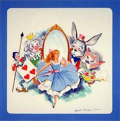 Alice in Wonderland, Children's Story Illustrations of Reynold Brown