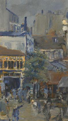 Edouard Manet (French, 1832-1883), Vue prise de la Place Clichy, 1878. Oil on canvas, 39.4 x 22.5 cm.