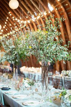 Trending - 18 Elegant Olive Branch Wedding Centerpieces - Oh Best Day Ever Tree Branch Centerpieces, Tall Wedding Centerpieces, Flower Centerpieces, Wedding Decorations, Tall Centerpiece, Rustic Centerpieces, Centrepieces, Floral Wedding, Wedding Flowers
