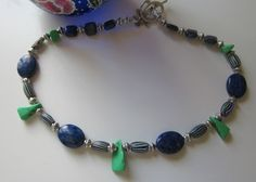 Stunning choker lapis  green turquoise and by AdornmentsToAdore, $109.00