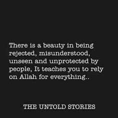 Rely on Allah(swt) only. Allah Quotes, Quran Quotes, Words Quotes, Life Quotes, Islamic Inspirational Quotes, Islamic Quotes, Motivational Quotes, Allah Loves You, Love In Islam