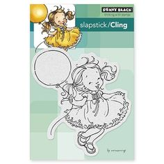 Penny Black Cling Stamp BIRTHDAY GIRL Rubber Unmounted 40-304
