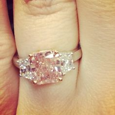 "Pretty in pink!  Would you like to say ""Yes!"" to a pink diamond engagement ring?"