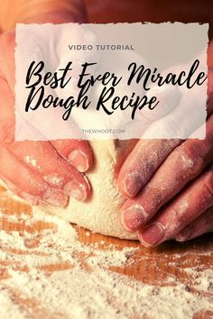 Crazy Dough Recipe For All Your Baking Miracle Dough Recipe, Bun Dough Recipe, Yeast Bread Recipes, Quick Bread Recipes, Baking Recipes, Easy Bread, Fun Recipes, Baking Tips, Crazy Dough