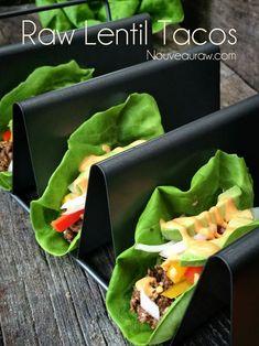Raw Lentil Tacos, such a healthy easy meal idea! {Nouveau Raw}