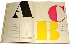 Bruno Munari / ABC Book, 1960 / Normandia typeface.