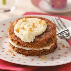 Mini Carrot Cake Tortes Recipe from Taste of Home -- shared by Beatriz Marciano of Rockville, Maryland