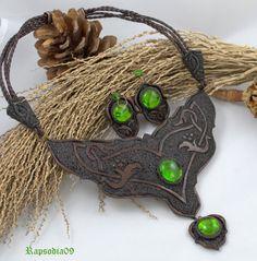 Jewelry Jewelry set Polymer clay jewelry set by Rapsodia09ArtWork