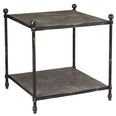 French Heritage - St. Lazare Square Metal End Table - M-1341-106-GMSL