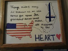 """My best friend is a Finnish exchange student, and this is one of the birthday presents I made for her. Her reaction was crying and saying """"I dont want to leave"""" over and over. #priceless #heretothere #birthdaypresent #america #finland"""