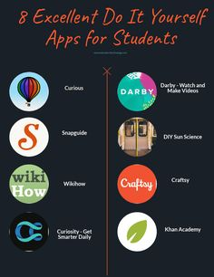 8 Excellent Do It Yourself Apps for Students : Free resource of educational web tools, century skills, tips and tutorials on how teachers and students integrate technology into education Life Hacks Websites, Learning Websites, Educational Websites, Educational Technology, Instructional Technology, Learning Quotes, Educational Leadership, Education Quotes, Life Hacks For School