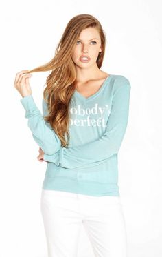 Wildfox Couture Nobody's Perfect V-Neck Baggy Beach Jumper $108.00