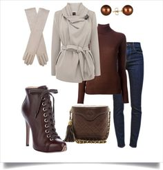 Beige and Browns (Olivia Pope) - Love the boots - Found jewelry to match at https://jewelryfanatic.kitsylane.com/