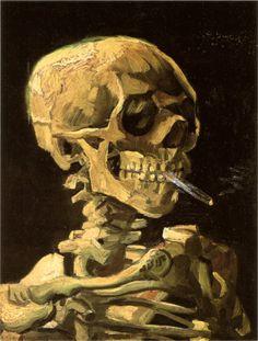 Skull of a Skeleton with Burning Cigarette Vincent Van Gogh 1885-1886