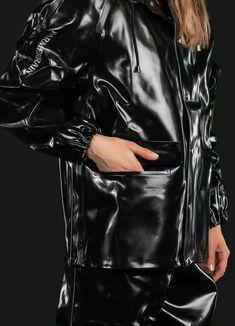 Rain Cape, Plastic Raincoat, Rain Gear, Unisex, Rainy Days, Double Breasted, Catwalk, Sailor, Rain Jacket