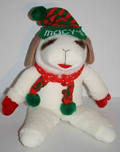 "Shari Lewis Lamb Chop 22"" Macys plush 1993 stuffed animal toy 70208 Christmas"