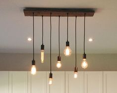 7 Pendant Edison Bulb Industrial Chandelier by HangoutLighting